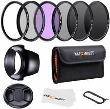 K&F Concept 55mm Slim UV CPL FLD ND2 ND4 ND8 Neutral Density Lens Filter Set