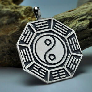 C30 Pendant Yin Yang Symbol Sterling Silver 925
