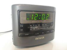 Aiwa Radio Reciver Model No. FR-A45U AM/FM Alarm Clock Radio Tested WORKS GREAT