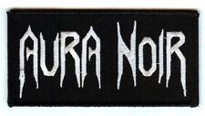 Aura Noir logo patch Black Thrash metal Norway Darkthrone Celtic Frost Absu