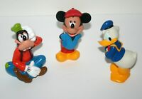 Disney Parks Mickey Mouse, Goofy, Donald PVC Figures, Toppers, 6 Inch