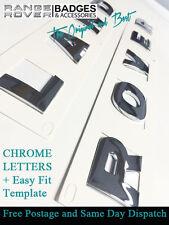Land Rover Chrome letters Bonnet front Lettering freelander 35mm