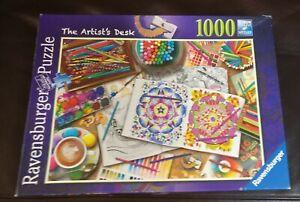 Ravensburger The Artist's Desk 1000 Piece Jigsaw Puzzle - Aimee Stewart HTF