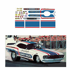 Soapy Sales Challenger Funny car decal 1/64 scale AFX Tyco Lifelike Autoworld