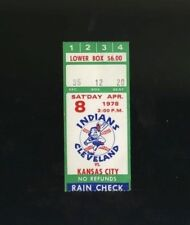 4/8/1978 Kansas City Royals @ Cleveland Indians Ticket - Indians Opening Day