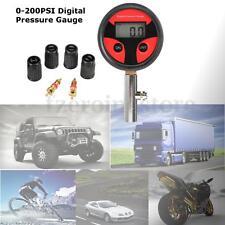 Car Truck Digital LCD Tyre Motorcycle Bike Air Pressure Gauge 0-200PSI +Core New