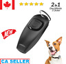Dog and Puppy Training Clicker and Recall Whistle 2 in 1 Train Behaviour Agility