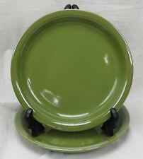 "2 Mainstays Home Stackables Plates Dark Olive Green Salad 8"" Bread"