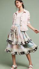 NWT $178 Anthropologie Dionna Ruffle Skirt size 12