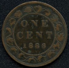 1886 Canada Large Cent Coin