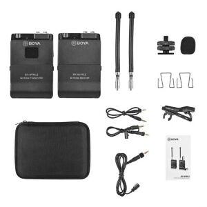 Boya BY-WFM12 VHF 40M Wireless Microphone Kit 12 Channel TX+RX (UK Stock) BNIB