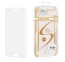 """^ Schutzfolie Hartglas Echt Glas Schutzglas FULL FACE Apple iPhone 7 4,7"""" Weiß"""