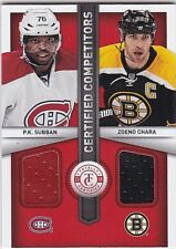 P.K. Subban, Zdeno Chara 2013-14 Totally Certified, Certified Competitors Dual
