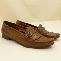 Reed St James Medium Brown Leather Loafers Mens 13M Casual Shoes Made in Brazil