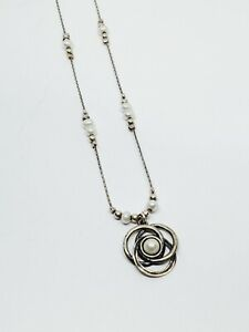 "DIDAE Israel 925 Sterling Silver Pearl 18"" Necklace"