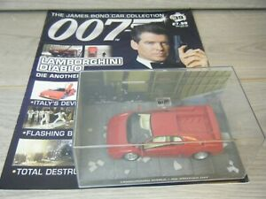 JAMES BOND CAR COLLECTION LAMBORGHINI DIABLO FROM DIE ANOTHER DAY #39+MAGAZINE