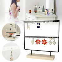 44 Holes Earrings Ear Studs Jewelry Display Rack Stand Organizer Case Holder Box