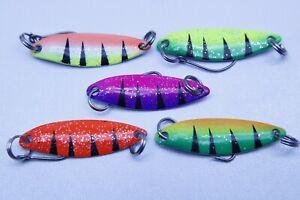 SyMa Fishing Spoon 2g - 35mm Forellenspoon Spoonblinker 5 Stück im Set UV aktiv