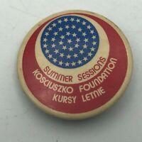 "Antique Kosciuszko Foundation Polish American 1-1/2"" Button Pin Pinback Vtg  R6"