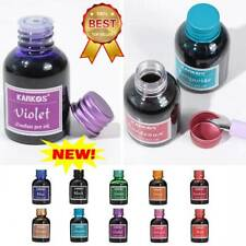 Fountain Pen Ink 30ml In Glass Bottle Choice Of 10 Rich Bright Colours