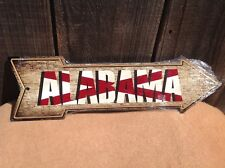 """Alabama State Flag This Way To Arrow Sign Directional Novelty Metal 17"""" x 5"""""""