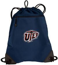UTEP Miners Drawstring Bag Backpack COOL MESH & MICROFIBER