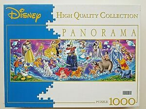 Disney Family 1000 Pcs Panorama Jigsaw Puzzle Clementoni High Quality Collection