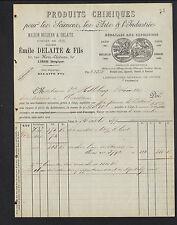 """LIEGE (BELGIQUE) PRODUITS CHIMIQUES """"NEUJEAN & Emile DELAITE"""" en 1899"""