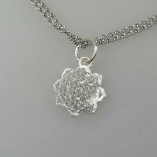 Blume des Lebens Anhänger 925 Silberanhänger glänzend und eismattiert 1,4 cm