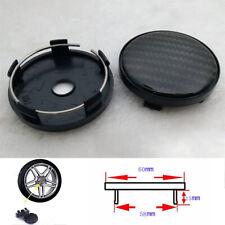 Car Wheel Center Hub Caps Decoration Cover Carbon Fiber Look DIY 4Pcs 60mm/58mm