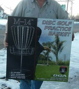 NIB UNOPENED DGA M-14 DISC GOLF PRACTICE BASKET GREAT GIFT FOR THE DISC GOLFER
