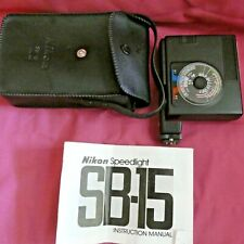 Nikon Speedlight FB-15 Flash unit with case and full instructions