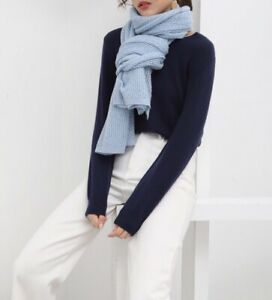 Clerance - Soft and warm  Ladies Wool Scarf -blue  Winter