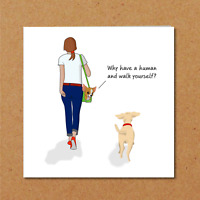 Funny DOG Birthday Card / Thank You Card Friend Friendship Funny Humorous Owner
