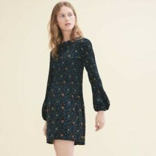 Maje Pleated Crepe Mini Dress Size 1
