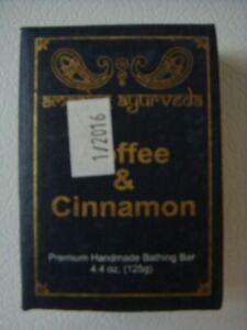 Ayurveda Premium Handmade 4.4 oz Cinnamon Coffee Soap  REDUCED  CLEARANCE  SALE