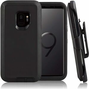 "Samsung Galaxy S9 (5.8"")  Case Heavy Duty Hard Defender w/ Clip Fit Outerbox Blk"