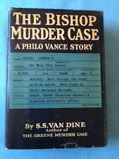 THE BISHOP MURDER CASE. A PHILO VANCE STORY - FIRST EDITION BY S.S. VAN DINE