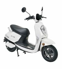 Electric scooter Adult E-SCOOTER Retro Vespa Motorcycle Moped 28mph 800W WHITE