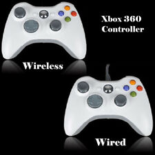 USB Wired/Wireless Game Pad Controller White for Microsoft Xbox 360 PC Windows