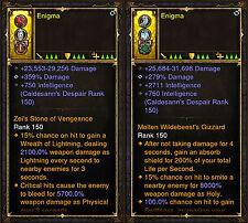 Diablo 3 RoS PS4 [HARDCORE] Patch 2.5 Modded Ring Bundle - 1,000,000,000% Damage