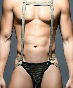 Andrew Christian Singlet Glam Harness Stripe 92106 50AA
