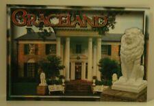 Elvis Presley's Graceland Postcard with Lion Bottom corner