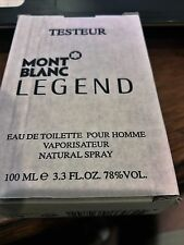 Tester Mont Blanc Legend For Men 3.3 / 3.4oz 100ml Eau de Toilette Spray New