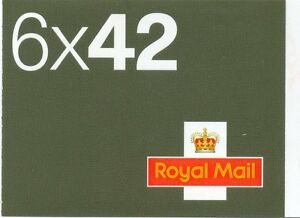 2002 6 x 42 p booklet with Airmail stickers sg NA1 cat £35