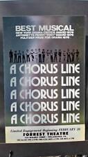 A CHORUS LINE Window Card TOUR Silver PHILADELPHIA 1977