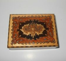 Vintage Reuge Footed Italy Sorrento Music Box Marquetry Minuet di Don Juan