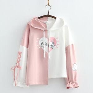 Kawaii Clothing Dog Bowknot Cotton Hoodies Sweatshirt Pullover Jumper Sweater