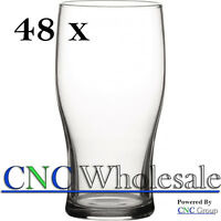48 x Pint Tulip Toughened Glass Professional Grade Bulk Wholesale 20oz