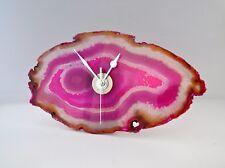 Orologio rosa. AGATA cristallo di quarzo Orologio. RARO fetta. unico, originale Regalo-mozzafiato